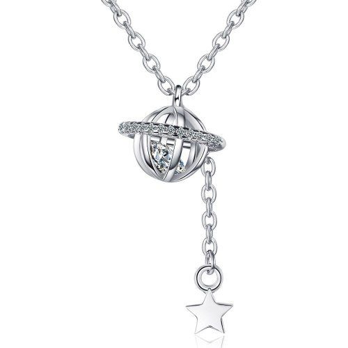 A New Necklace Luxury Zirconium Pendant Star Tassel Chain XZDZ532
