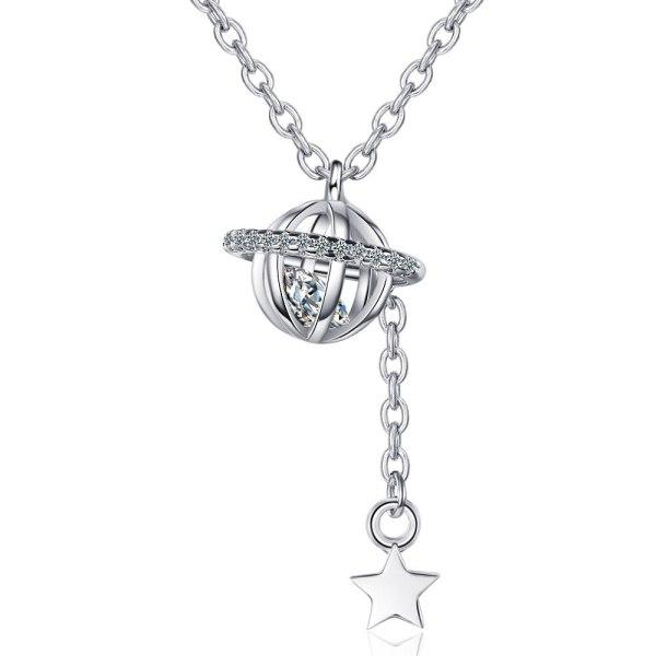 A New Necklace Luxury Zirconium Pendant Star Tassel Chain XZDZ532