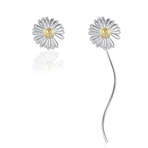 Little Daisy Stud Earrings Female New Flower Earrings Fresh and Long Tassel Earrings Sweet Earrings XzED898