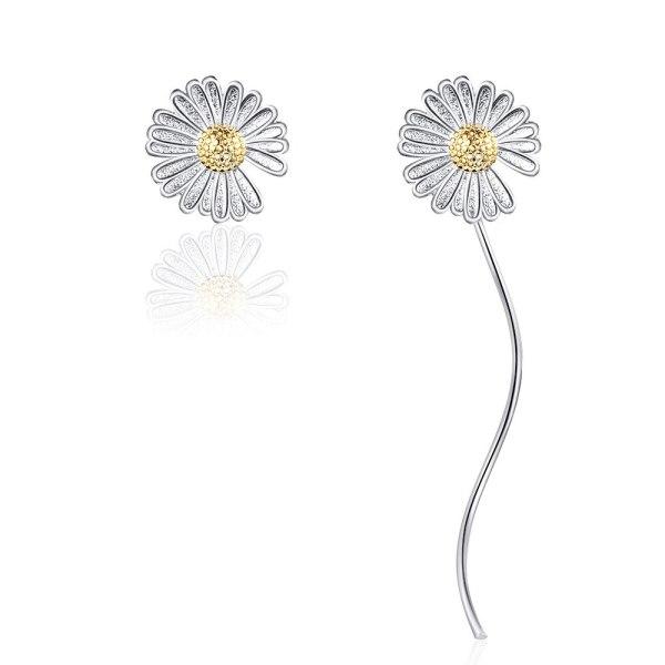 Little Daisy Stud Earrings Female New Flower Earrings Fresh and Long Tassel Earrings Sweet Earrings XzED898
