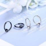 Hip Hop Korean Earrings for Men and Women Couples Black Gold Earrings Street Personalized Earrings Stud Earrings Xzheh565
