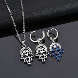 Copper Inlaid AAA Zircon Crystal Accessories Elegant Natural Fashion Earrings Wholesale Flower Earrings Gifts Qxwe1078
