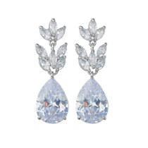 Zircon Earrings Europe and The United States Fashion Nail AAA Zircon Inlaid Ladies Earrings Wholesale Drop QxWE1430