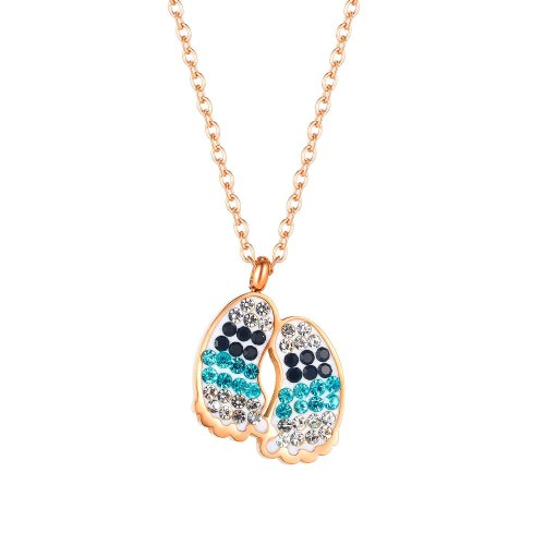 Korean Personality Footprints Titanium Steel Necklace Women Street Fashion Clavicle Chain Pendant Accessories Gb1849