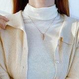 Simple and Versatile New Clavicle Chain Female Leaf Temperament Titanium Steel Necklace Wholesale GB1847