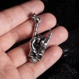 European Classic Retro Skull Finger Titanium Steel Men's Necklace Gb1836