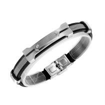 New Fashion Fashion Jewelry Europe and America Hip Hop Nightclub Titanium Steel Men's Bracelet Gb1428