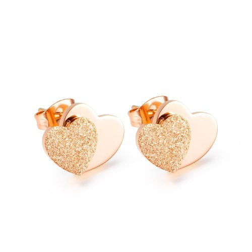 Japan and South Korea Fashion Simple Love Frosted Stud Earrings Earrings Female Jewelry Wholesale Gb646