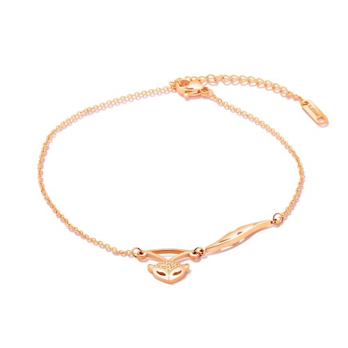 Japanese and Korean Fashion Slim O-chain Temperament Summer Foot Chain Charming Fox Titanium Steel Anklet GB071