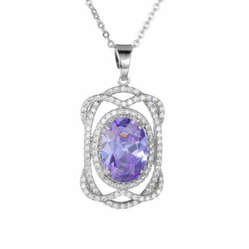 AAA Zircon Inlaid Necklace Luxury Sweater Pendant Fashion Wholesale Pendant QxWP333