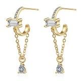 Long Tassel Water Drop Earrings for Women New Fashion Exquisite Temperament Personalized Earrings Simple Small Fresh Xzed892