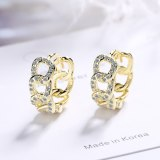 Simple Small Fresh Chain Ear Buckle Exquisite Personality Hollow Out Zirconium Inlaid Fashion Earrings Xzh591