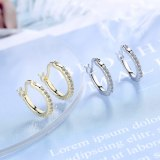 Korean Style Fashion Personality Inlaid Zirconium Simple Earrings Female Fashion Short Stud Earrings XzEH590