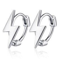 Korean Version Simple Personality Lightning Design Student Ear Buckle Lady Art Sense Stud Earrings Xzeh586