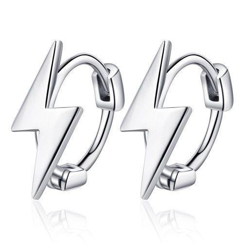 Korean Version Simple Personality Lightning Design Student Ear Buckle Lady Art Sense Stud Earrings Xzeh586
