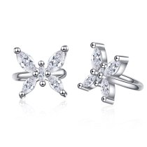 Bow Stud Earrings Earclip Female Korean Fashion Cute Sweet Inlaid Zirconium Earring Jewelry XzEH585