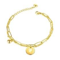 Japan and South Korea Ins Wind Niche Design Double Bracelet Simple Round Brand Portrait Bracelet Gb1127