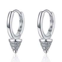 Earrings Female Mori Series Sweet Zirconium Inlaid Three-dimensional Conical Earrings Geometric Stud Earrings Xzh587