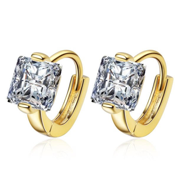 stud earrings Buckle Female Korean Fashion Simple Square Drill Earrings Temperament Mini Ear Jewelry XzEH589