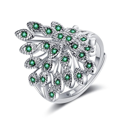 European and American Diamond Screen Small Fresh Zirconium Inlaid Animal Ring Jewelry  Xzjz346