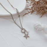 Japanese and Korean Retro Star Necklace Net Red Simple Temperament Fashion Bead Sweater Chain Long Style Gb1857