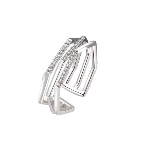 S925 Sterling Silver Bracelet Women Multi-layer Winding Ring Fashion Personality Micro-inlaid Zircon Multi-ring Ring MlK889
