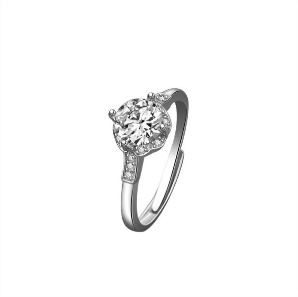 Ring Women's New 925 Sterling Silver Fashion Design Opening Adjustment Exquisite Temperament Proposal Single Ring Mlk672