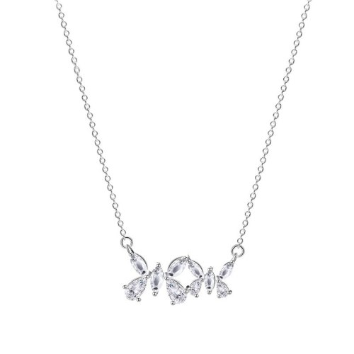 S925 Silver Butterfly Necklace Women's Fashion Jewelry In Korean Retro Micro Inlaid Zircon Pendant Mla2163