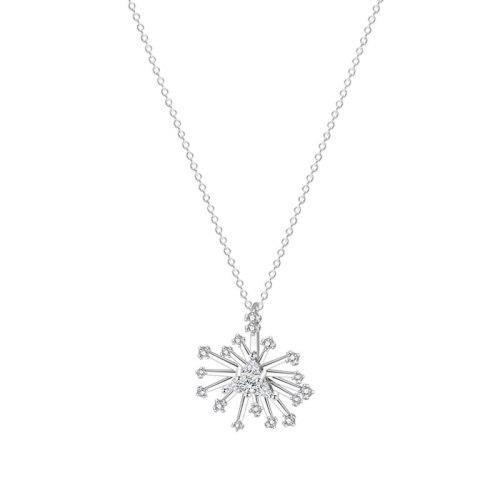 S925 Sterling Silver Necklace Temperament Snowflake Necklace Female Clavicle Chain Versatile Korean Fashion Pendant Mla2158