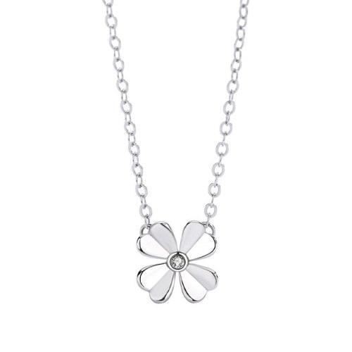 S925 Sterling Silver Necklace, Korean Simple Four-leaf Clover Clavicle Chain Pendant Creative Jewelry MlA1953