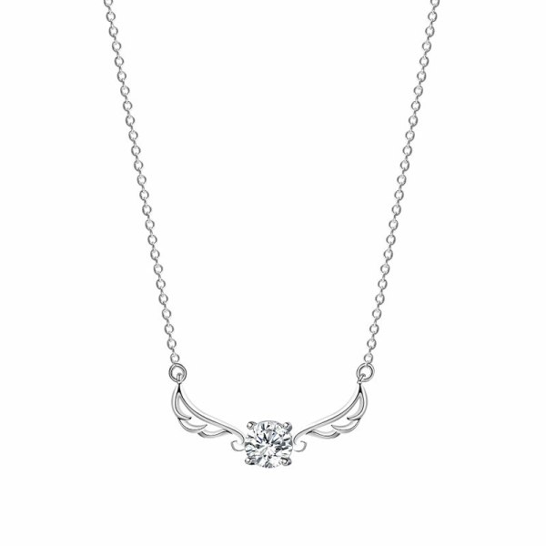 S925 Pure Silver All The Way There Is Your Zircon Necklace Korean Version of Small Fresh Antlers Item MlA2030