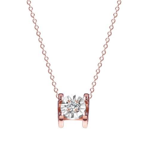 S925 Sterling Silver Jewelry Korean Version Classic Zircon Necklace Female Wild Short Clavicle Chain Pendant MlA2064