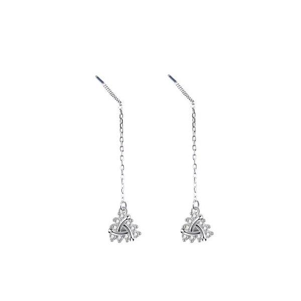 S925 Silver Earrings Korean Zircon Studs Female Temperament Earrings A Hundred Set of Classic Earrings New Product Mle1999