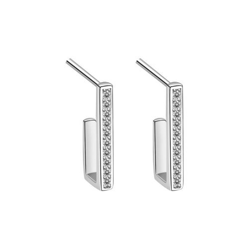 S925 Sterling Silver Fashion Personalized Earrings Women's Korean Versatile Geometric Stud Earrings Mle2159