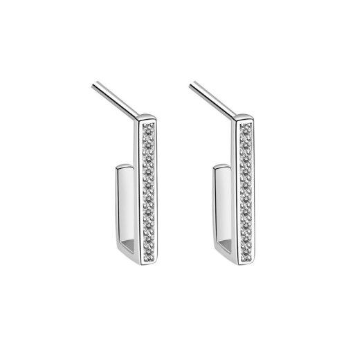 S925 Sterling Silver Fashion Personalized Earrings Women's Korean Versatile Geometric Stud Earrings Mle2159