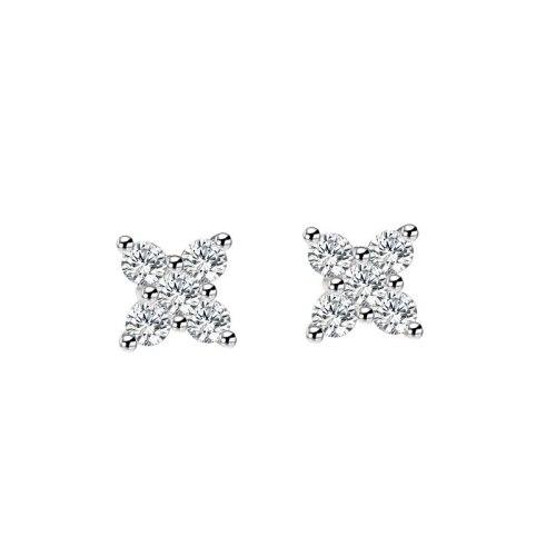 S925 Sterling Silver Stud Earrings with Zircon Earrings for Women Mle1910