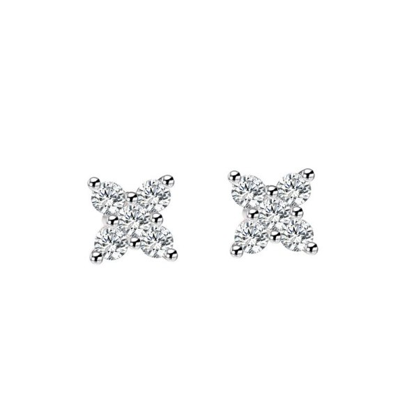 S925 Sterling Silver Stud Earrings with Zircon Earrings for Women Mle1910