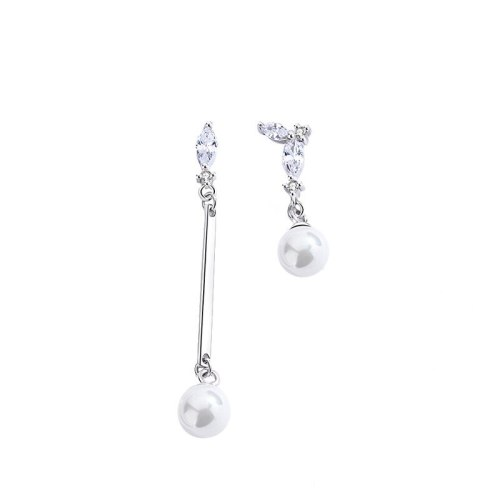 Korean Temperament Micro Set Earrings for Women's New Fashion S925 Sterling Silver Small Fashion Pearl Earrings Mle2198
