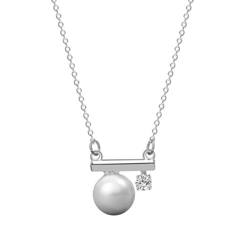 S925 Pure Silver Pearl Creative Necklace Pendant Women's Fashion Korean Silver Mla2065