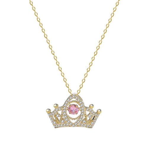 S925 Sterling Silver Crown Heart Necklace Women's Exquisite Temperament Micro Inlaid Hollow Out Clavicle Chain Jewelry Mlf2569