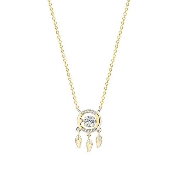 S925 Sterling Silver Smart Necklace Female Feather Tassel Clavicle Chain Necklace New Product Wholesale MlF2587
