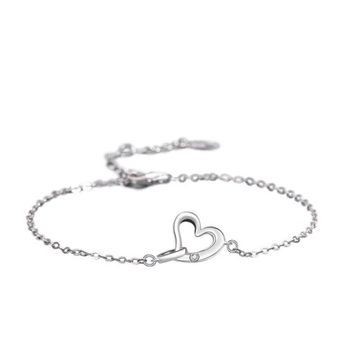 S925 Pure Silver Korean Version Love Bracelet Female Diamond-encrusted Ring Wrist Ornament Wholesale MlL502