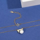S925 Pure Silver Pearl Creative Necklace Pendant Women's Fashion Korean Silver Mla2065