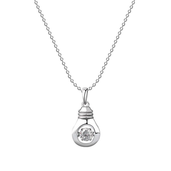 S925 Sterling Silver Ins Fashion Korean Jewelry, Diamond, Geometric Shape, Zircon Necklace, Set Wholesale MlA2006