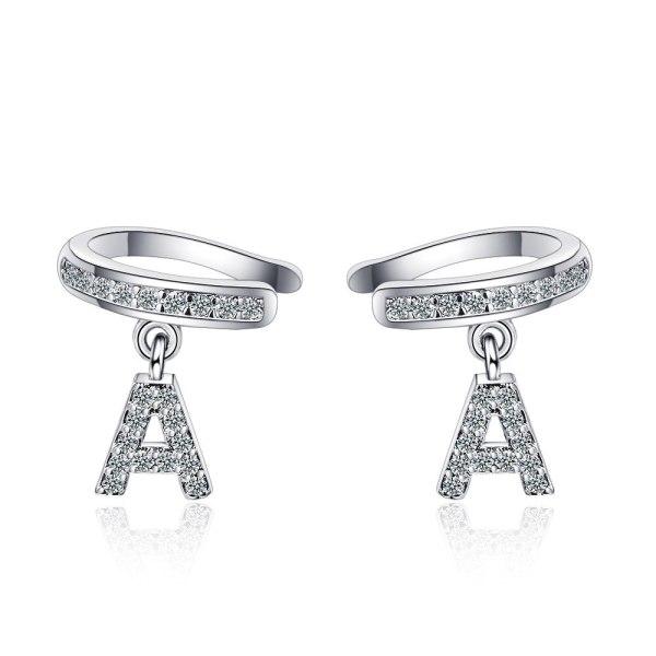 Ear Clip Female Fashion Inlaid Zirconium Drill No Ear Hole Personality Letter Temperament Ear Bone Clip Ear Jewelry Xzh610