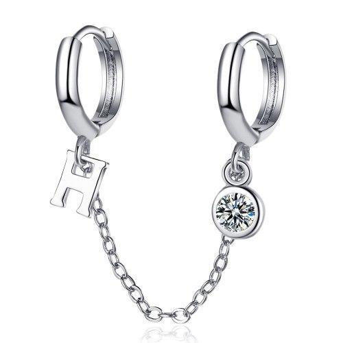 Double Pierced Earrings with Zirconium Earrings New Fashion Trendy Earrings Korean Temperament Earrings Female XzEH602