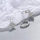 Zirconium Inlaid Diamond Star Earrings Fashion Small Fresh Single Row Diamond Earrings Short Earrings and Earrings Xzh611