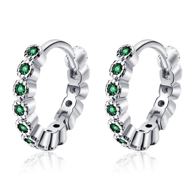 Korean Version of Simple Temperament with Diamond Ear Buckle Stylish Small Geometric Earrings XzEH597