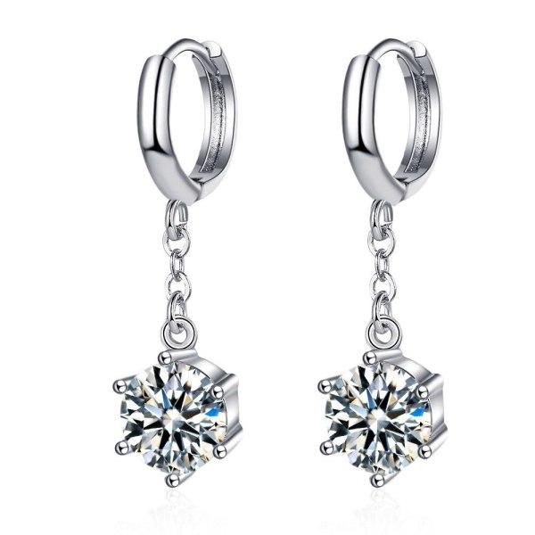 Korean Style Temperament Inlaid Zirconium Diamond Earrings Earrings Female Simple and Sweet Earrings Long Earrings XzEH603