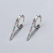 Korean Style Earrings Simple Personality Long Geometric Zirconium Diamond Earrings Female Temperament Tassel Earrings XzEH601
